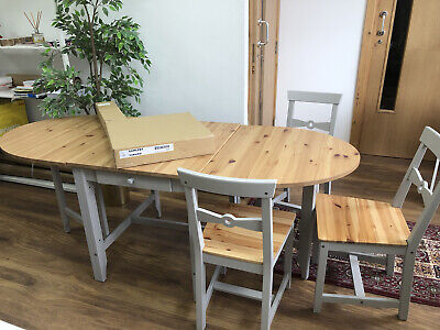 Ikea Gamleby Table And 4 Chairs (one Of Them Still In The Box). Mint Conditions • 91£