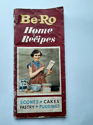 Be-Ro Home Recipes -Scones.Cakes.Pastry.Puddings Vintage Booklet 1930's • 18.99£