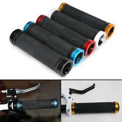 AU9.95 • Buy Double Lock On Locking Bmx Mtb Mountain Bike Cycle Bicycle Handle Bar Grips