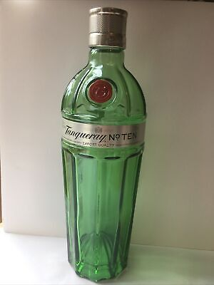 TANQUERAY No 10 Gin 70cl Empty Bottle/ Glass/ Collectable/Green/ Upcyling/ Craft • 6.99£