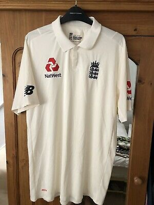 England Lions New Balance Match Worn Test Cricket Shirt Sam Hain Warwickshire • 99.99£