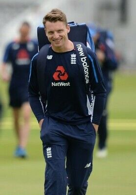 England Cricket Jos Buttler New Balance Match Worn Long Sleeve Training Shirt M • 74.99£