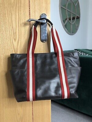 BALLY Swiss Brown Leather Tote Bag • 99£