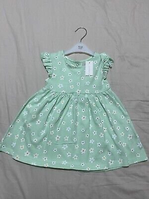 Blue Zoo Debenhams Green Baby Girl Floral Dress 9-12 Months • 5.50£