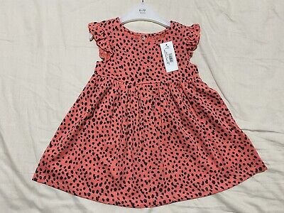 Blue Zoo Debenhams New Leopard Print Baby Girl Dress 6-9 Months • 3.99£