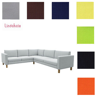 Custom Made Cover Fits IKEA Karlstad Corner Sofa 2+3 / 3+2, Sectional Sofa Cover • 285.39£