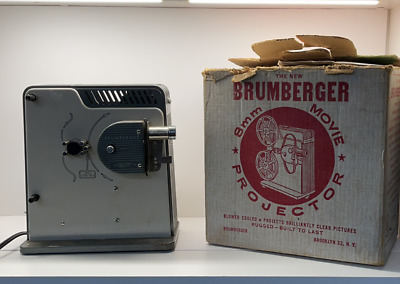 $ CDN45 • Buy Brumberger 8 Mm Movie Projector With Box. Lamp Burnt Out. Tested Working