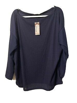 Boohoo Navy Off The Shoulder Jumper Size 18 Bnwt • 8£