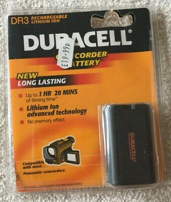 £4.95 • Buy Duracell Camcorder Battery DR3 - Old Stock