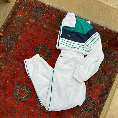 Mens Lacoste Sport Full Tracksuit Set Xxl 7 Jacket Trousers Vintage 2xl Top • 103.99£