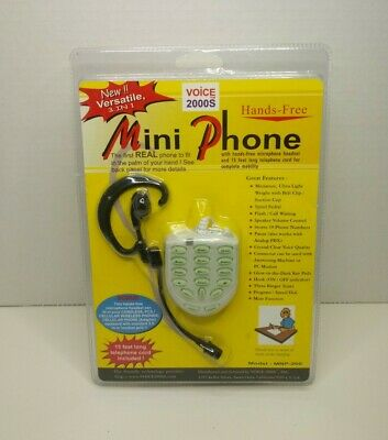 Voice 2000S 3 In 1 Hands-Free Mini Phone W/ Headset & 15ft. Cord MNP-200 SEALED • 13.23£