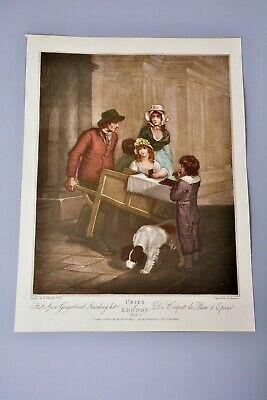 £10.99 • Buy Antique Clipping/Print: Cries Of London Plate 12, Gingerbread Seller