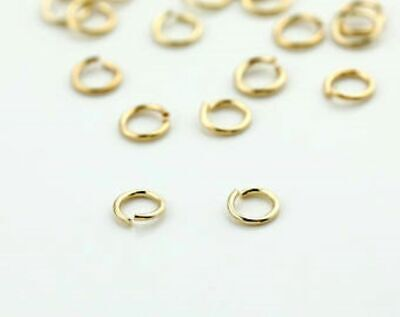 £1.75 • Buy LIGHTER GOLD Plated Jump Rings Connectors For Jewellery Making