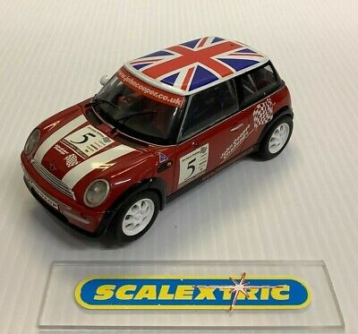 SCALEXTRIC HORNBY C2484 BMW MINI COOPER John Cooper Challenge (PRE-LOVED) LIGHTS • 4.99£