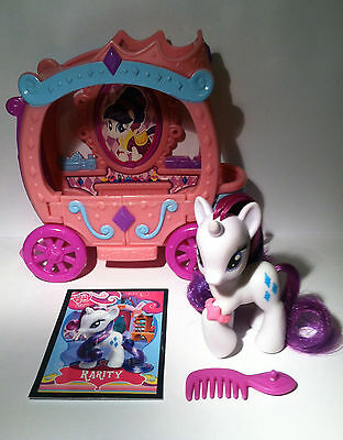 My Little Pony G4 Rarity's Gem Carriage, Accessories & Custom Brushable Card LOT • 17.87£