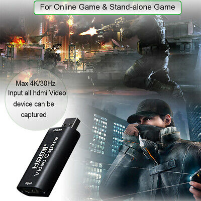 Portable 4K 1080P HDMI To USB2.0 Video Capture Card Game Recording For Streaming • 12.33£