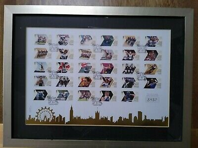 £59.95 • Buy London 2012 Olympic Games GB 29 Gold Medal Winners Stamps Framed Franked 12/08