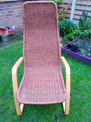 Ikea Poang WICKER/RATTAN Chair  COLLECTION ONLY • 20£