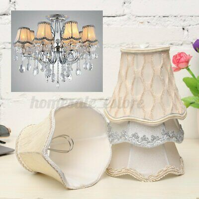 Vintage Small Lace Lamp Shades Textured Fabric Ceiling Chandelier Light  US H6 • 8.45£