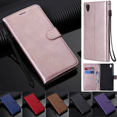 AU8.59 • Buy For Sony 5 1 10 XA1 XA2 XZ2 XZ1 L1 L2 L3 Z5 Book Wallet Leather Flip Cover Case