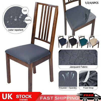 £3.99 • Buy Waterproof Dining Chair Seat Covers Removable Elastic Stretch Spandex Slipcovers