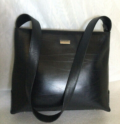 AU75 • Buy Vintage OROTON Black Leather Shoulder Bag / Handbag