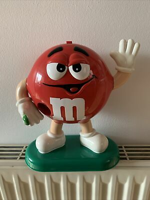 M&M's Red Sweet Chocolate Dispenser Collectable Desktop Large Eyes • 10£