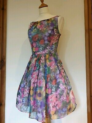 AU39.71 • Buy Monsoon Floral Special Occasion Party Dress. Net Underskirts. Size 8
