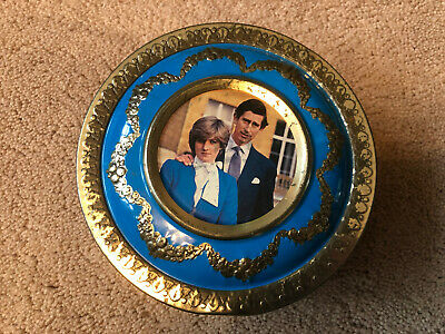 £5 • Buy Vintage Commemorative Tin Marriage Of Lady Diana Spencer And Prince Charles 1981