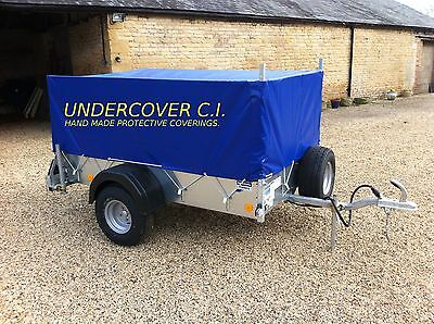 Hand Made Trailer Cover For Ifor Williams P8e With Cage Sides Top Quality • 135£