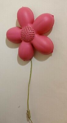 IKEA Smila Blomma Pink Flower Wall Light Lamp Night Girls Bedroom V0310 • 11.99£