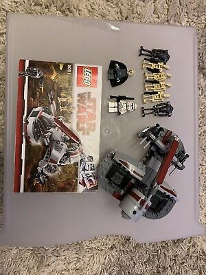 Lego 8091 Star Wars Republic Swamp Speeder And Figures & Instructions + Figs • 26£
