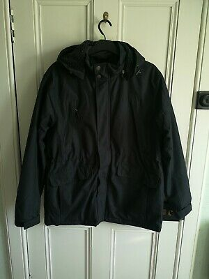 Men's BHS Atlantic Bay Black Fleece & Quilted Lined Coat Size Large 42-44 Chest • 9.99£