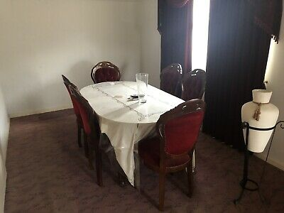 AU100 • Buy Extension Dining Table And 6 Velvet Chairs
