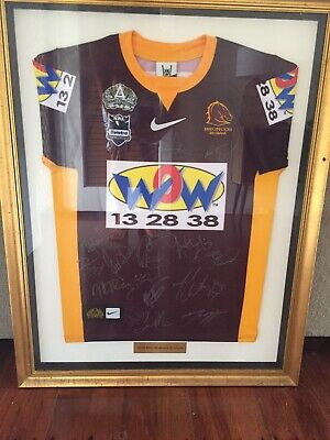 AU105.50 • Buy Framed Signed 2008 Brisbane Broncos Jersey