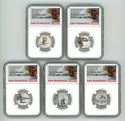 $ CDN40.63 • Buy 2018 S Silver Quarters 25c Set Reverse  Ngc Pf69 Early Releases Trolley W94