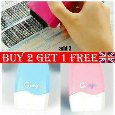 Identity Theft Protection Roller Stamp Privacy Confidential Data Guard Your ID D • 5.74£