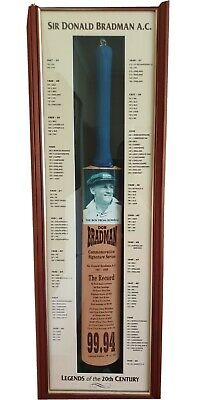AU500 • Buy Beautifully Presented Bradman Signed Bat With Certificate Of Authenticity