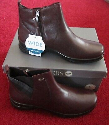 Brand New In Box Womens Pavers Alpine Wide Fit Boots Size U.K 5 In Burgundy • 34.99£