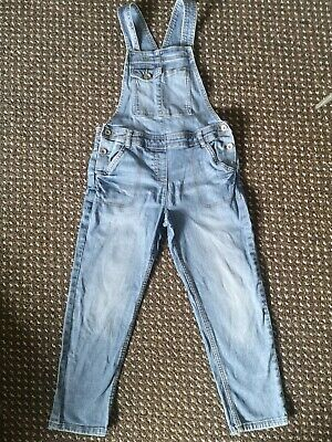 Next Dungarees Age 10 Girls Blue Denim Excellent  • 3.50£