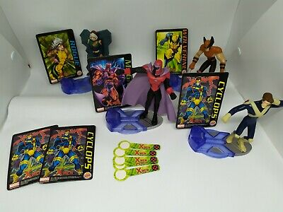 X-Men Evolutions Burger King 2001 Magneto Cyclops Wolverine Rogue Figures • 14.99£