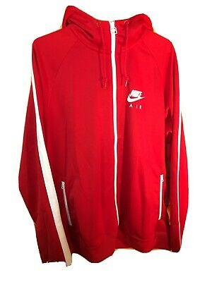 Mens Nike Air Red Hooded Jacket Sports Running Track Top Large • 34.95£