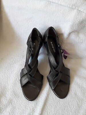 BNWT M&S Autograph Ladies Leather Size 5.5 Pewter Grey Sandals Shoes Wiv Insolia • 12.99£