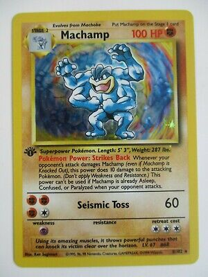 AU12.90 • Buy Pokemon Tcg Machamp Base Set Holo Rare 1st Edition 8/102 Trading Card