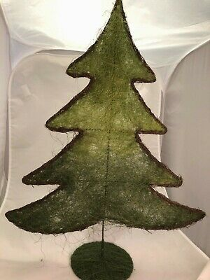 Christmas Tree Table Top Flat 60 Cm/24 Inch Tall Wire Frame Holiday • 14.99£