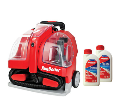 Rug Doctor Portable Spot Carpet Cleaner + 2 X 500ml Cleaning Solution NEW • 138.88£