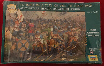 'ZVEZDA' English Infantry Of The 100 Years War 1:72 Scale Figures • 6.50£