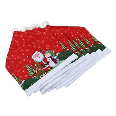 6Pcs Christmas Ornaments Chair Cover Dinner Dining Table Santa Claus Snowflake S • 16.99£