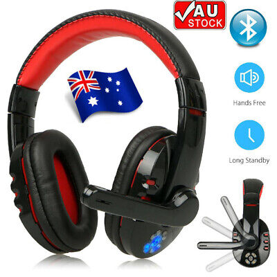 AU30.29 • Buy Wireless Gaming Headset With Mic Headphones Surround For PC Laptop AU STOCK!!