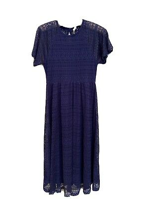 AU9 • Buy Ladies Asos Maternity Dress Size 12 Blue